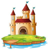Castelo isolado no fundo branco vetor