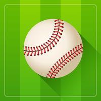Vetor realista de bola de beisebol