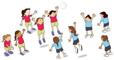 Equipe de voleibol vetor