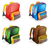 sacos escolares vetor