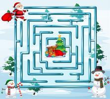 Modelo de jogo de labirinto de Natal vetor