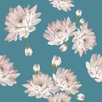 Teste padrão floral sem costura com crisântemos