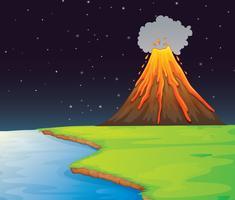 Vulcão vetor