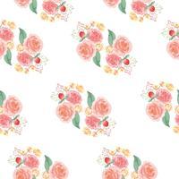 Sem costura padrão floral exuberante aquarela estilo vintage têxtil, flores aquarelle isolado no fundo branco. Design de flores decoração para cartão, salvar a data, cartões de convite de casamento, cartaz, banner design. vetor