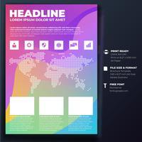 Modelo de Brochura - folheto vetor
