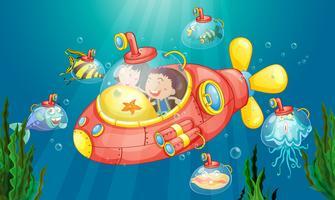 Aventura submarina vetor