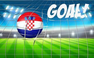 Copa do mundo de futebol da croácia vetor