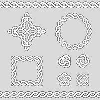 Elementos de design ornamentais celtas. vetor