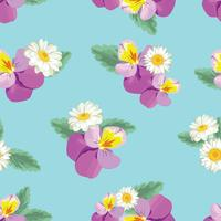 Padrão sem emenda floral vetor