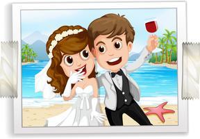 Foto de casamento vetor