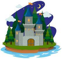 Castelo na ilha vetor