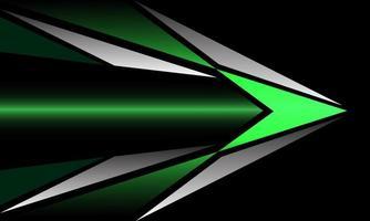abstrato verde prata metálico triângulo direção da seta design geométrico tecnologia moderna futurista fundo vetor