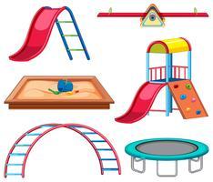 Jogo, de, equipamento playground vetor