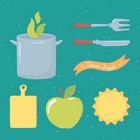 produtos frescos orgânicos vetor