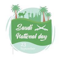 dia nacional na arábia saudita vetor