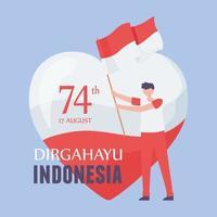 17 de agosto dia da independência da Indonésia vetor