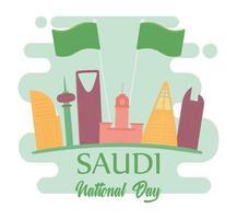 dia de celebração saudita vetor
