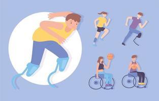 definir esporte para deficientes físicos vetor