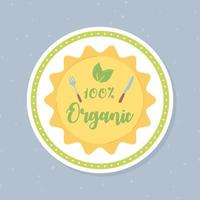 crachá de comida orgânica vetor