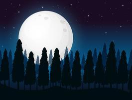 Uma noite escura da lua cheia vetor