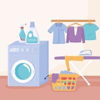 lavanderia interna vetor