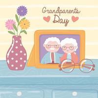 celebração do dia dos avós vetor