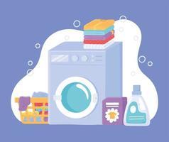 conjunto de tarefas de lavanderia vetor