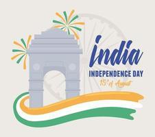 dia da independência da índia vetor