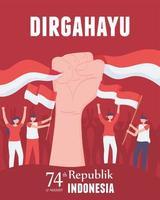 17 de agosto dia nacional da indonésia vetor