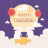 tradição chuseok feliz vetor
