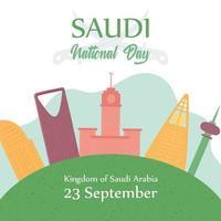 dia nacional da saudita vetor