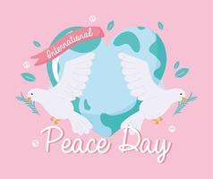 celebração do dia da paz vetor