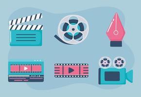movimento e cenário de filme vetor