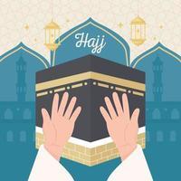 peregrinação hajj mabrour vetor