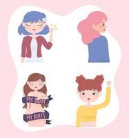 personagens do poder feminino vetor