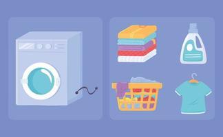 definir ícone de lavanderia vetor