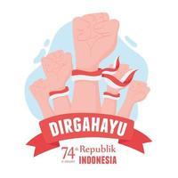 17 de agosto independência da Indonésia vetor