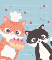 gatinhos engraçados vetor