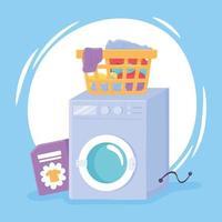 máquina de lavar roupa suja vetor