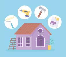 ferramentas de melhoramento da casa vetor