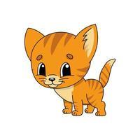 gatinho laranja. ilustração em vetor plana fofa em estilo cartoon infantil. personagem engraçado. isolado no fundo branco.