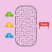 labirinto engraçado. jogo para crianças. quebra-cabeça para crianças. estilo dos desenhos animados. enigma do labirinto. ilustração do vetor de cor. o desenvolvimento do pensamento lógico e espacial.