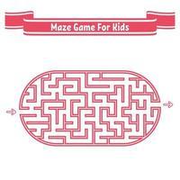 labirinto oval de cor. jogo para crianças. quebra-cabeça para crianças. enigma do labirinto. ilustração em vetor plana isolada no fundo branco.