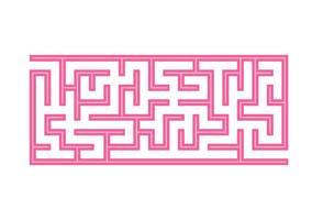 Labirinto. jogo para crianças. labirinto engraçado. página de atividades. quebra-cabeça para crianças. enigma para a pré-escola. ilustração do vetor de cor.