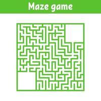labirinto quadrado colorido. jogo para crianças. quebra-cabeça para crianças. enigma do labirinto. ilustração vetorial plana. vetor