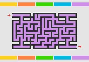 labirinto abstact. jogo para crianças. quebra-cabeça para crianças. enigma do labirinto. ilustração do vetor de cor.