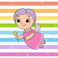 fada dos Dentes. ilustração em vetor plana fofa em estilo cartoon infantil. personagem engraçado. isolado no fundo branco.