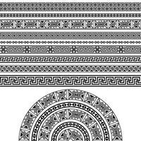 Conjunto de design étnico vetor
