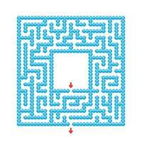 labirinto abstrato. jogo para crianças. quebra-cabeça para crianças. estilo de desenho animado. enigma do labirinto. ilustração do vetor de cor. o desenvolvimento do pensamento lógico e espacial.
