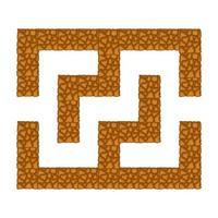 labirinto subterrâneo. jogo para crianças. quebra-cabeça para crianças. estilo de desenho animado. enigma do labirinto. ilustração do vetor de cor. o desenvolvimento do pensamento lógico e espacial.